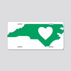I Love North Carolina Aluminum License Plate