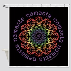 Namaste Lotus Shower Curtain