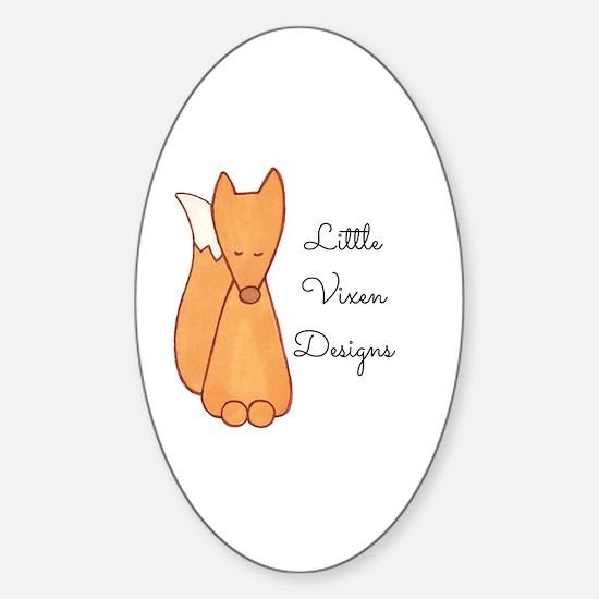 Cute Little vixen Sticker (Oval)