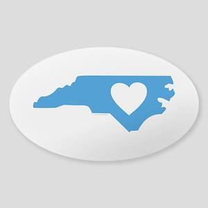 I Love North Carolina Sticker (Oval)