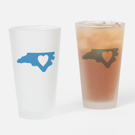 I Love North Carolina Drinking Glass