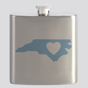 I Love North Carolina Flask