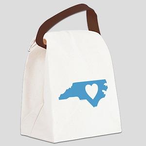 I Love North Carolina Canvas Lunch Bag