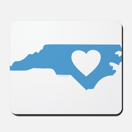 I Love North Carolina Mousepad
