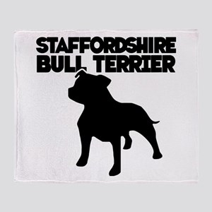 STAFF.BULL TERRIER Throw Blanket