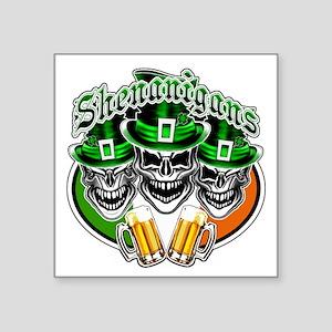 Funny Irish Skulls: Shenanigans Sticker