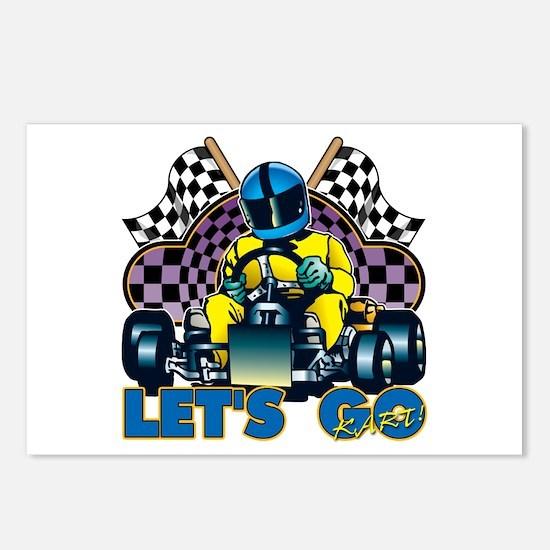 Let's Go Kart! Postcards (Package of 8)
