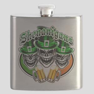 Funny Irish Skulls: Shenanigans Flask