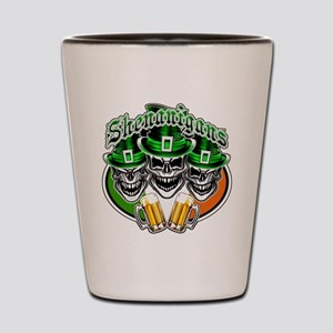 Funny Irish Skulls: Shenanigans Shot Glass