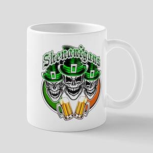 Funny Irish Skulls: Shenanigans Mugs
