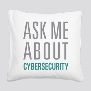 Cybersecurity Square Canvas Pillow