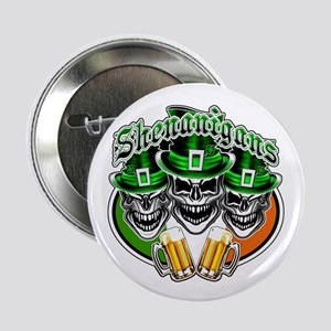 "Funny Irish Skulls: Shenanigans 2.25"" Button"