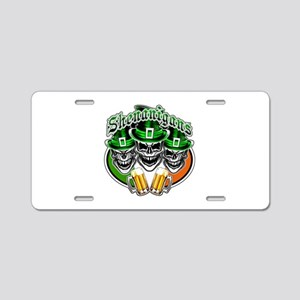 Funny Irish Skulls: Shenani Aluminum License Plate