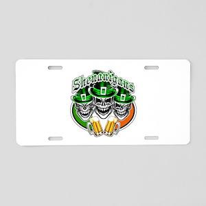 Funny Irish Skulls: Shenani Aluminum License Plate