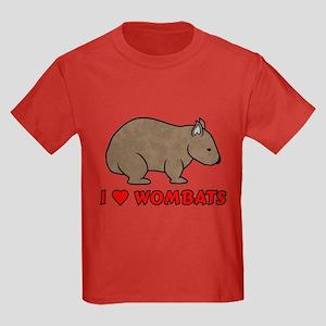 I Heart Wombats Kids Dark T-Shirt