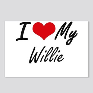 I Love My Willie Postcards (Package of 8)