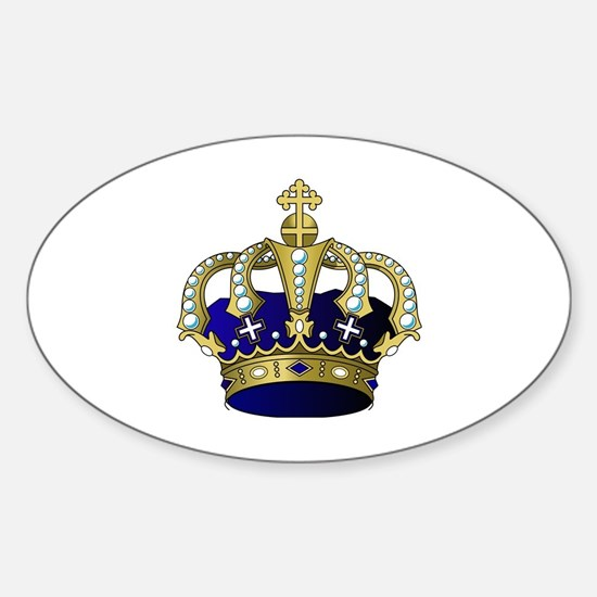 Cute King diamonds Sticker (Oval)