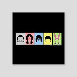 """Bob's Burgers Silhouettes Square Sticker 3"""" x 3"""""""