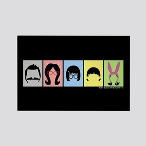 Bob's Burgers Silhouettes Rectangle Magnet