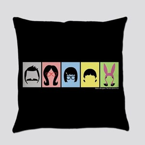 Bob's Burgers Silhouettes Everyday Pillow