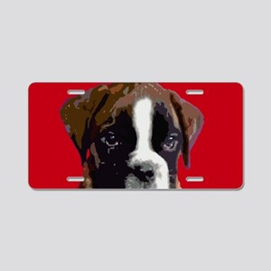 Boxer Puppy Aluminum License Plate
