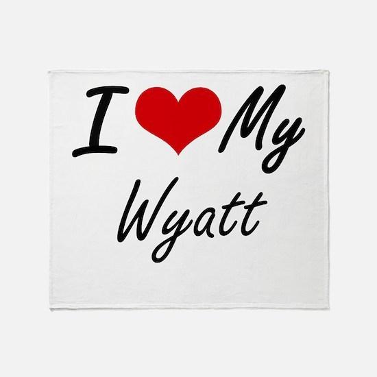 I Love My Wyatt Throw Blanket