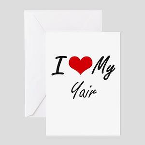 I Love My Yair Greeting Cards