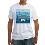 Whale Shark Thoughts Fitted T-Shirt
