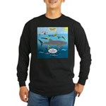 Whale Shark Thoughts Long Sleeve Dark T-Shirt