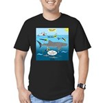 Whale Shark Thoughts Men's Fitted T-Shirt (dark)
