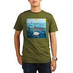 Whale Shark Thoughts Organic Men's T-Shirt (dark)