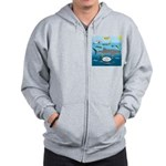 Whale Shark Thoughts Zip Hoodie