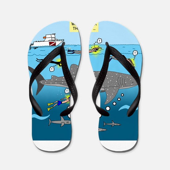 Whale Shark Thoughts Flip Flops