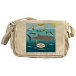 Whale Shark Thoughts Messenger Bag