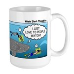 Whale Shark Thoughts Large Mug