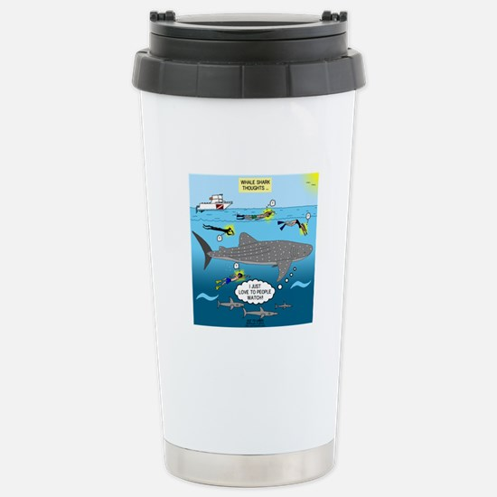 Whale Shark Thoughts Stainless Steel Travel Mug