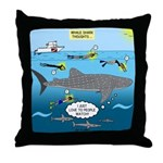 Whale Shark Thoughts Throw Pillow