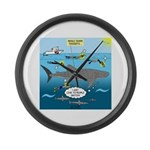 Whale Shark Thoughts Large Wall Clock