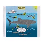 Whale Shark Thoughts Throw Blanket
