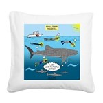 Whale Shark Thoughts Square Canvas Pillow