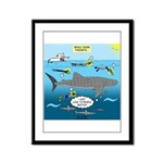 Whale Shark Thoughts Framed Panel Print