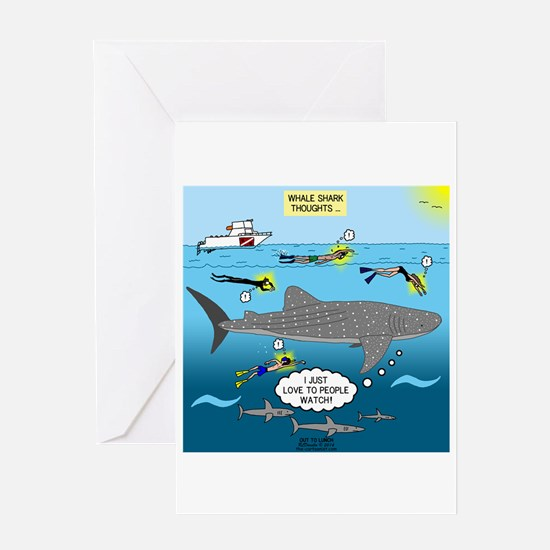Whale Shark Thoughts Greeting Card