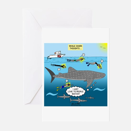 Whale Shark Thoughts Greeting Cards (Pk of 20)