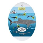 Whale Shark Thoughts Oval Ornament