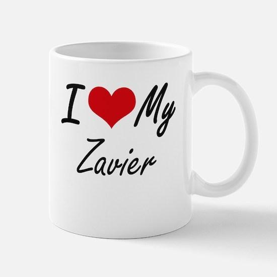 I Love My Zavier Mugs