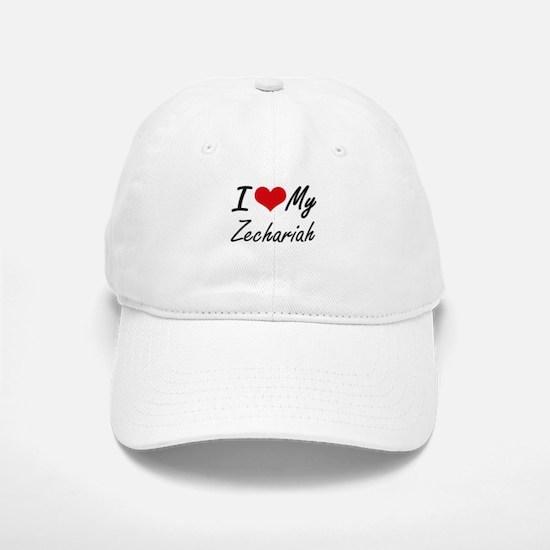 I Love My Zechariah Baseball Baseball Cap