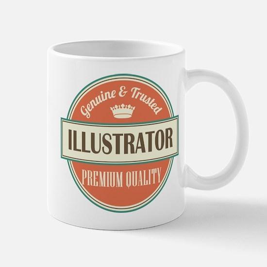 illustrator vintage logo Mug