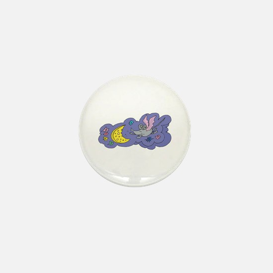 Fairy Mouse & Cheese Moon Mini Button