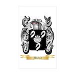 Michie Sticker (Rectangle 50 pk)