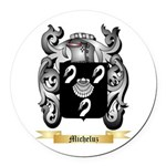 Micheluz Round Car Magnet